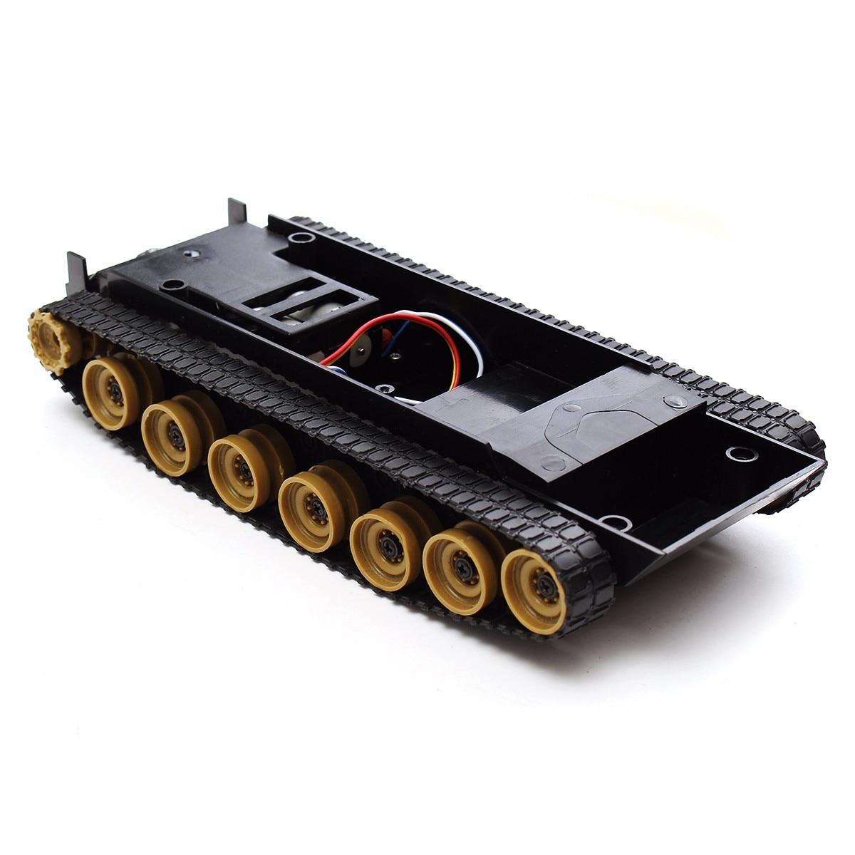 NEW 3V~7.4V Rc Tank Smart Robot Tank Car Chassis Kit Rubber Track Crawler Kit for Arduino SCM