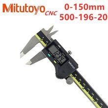 Mitutoyo paquímetro cnc, paquímetro digital lcd para 150 300 200mm 500-196-20 6 8 12 polegadas medição eletrônica de aço inoxidável