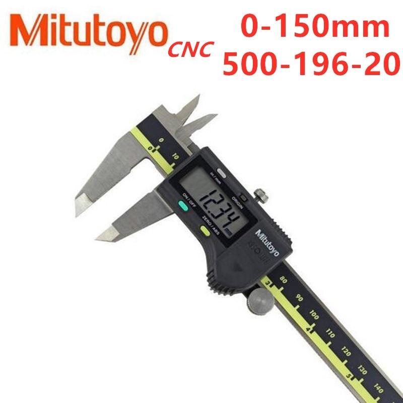 Pinças vernier digitais do lcd da pinça do cnc de mitutoyo 150 300 200mm 500-196-20 6 8 12 polegadas de medição eletrônica de aço inoxidável