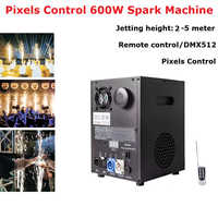 Cold Spark Fireworks Machine 600W DMX / Remote Pyrotechnics Indoor Outdoor Cold Fireworks Fountain Wedding Stage Party Sparkler