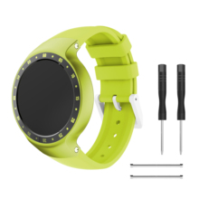 Yayuu Rubber Silicone Replacement Watch Band Accessory Wrist Strap Sport Bands Metal Clasp Compatible For TicWatch S Smartwatch