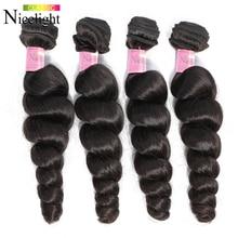 Loose Wave Bundles Indian Human Hair Bundles Extensions Nicelight Short Hair Bundle Long8-26Inch Sin
