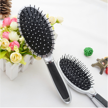 Free shipping 15 pieces/lot black and sliver Paddle brush  Hair Loss Massage Brush Air cushion comb