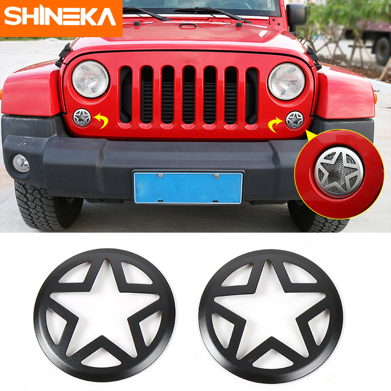 SHINEKA Car Styling For Jeep Wrangler JK 07-16 Front Signal Lamp Cover  Turn Light Guard