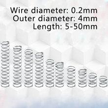 02 мм Провод dia 4 наружный диаметр Пружина сжатия 304 нержавеющая