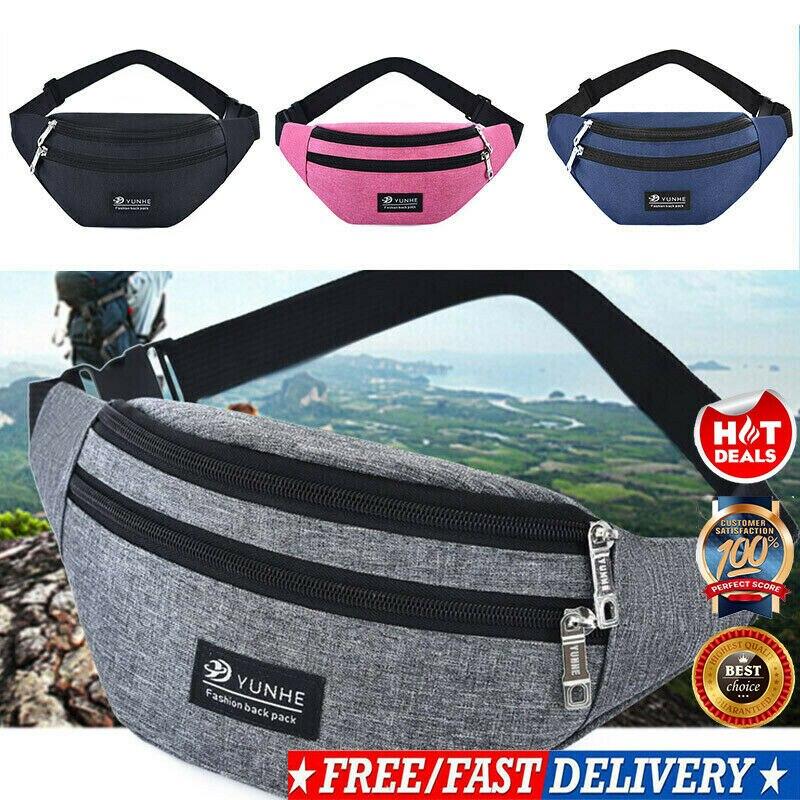 2019 HOT Unisex Bag Travel Waist Fanny Pack Holiday Sport Fashion Chest Bag Pack Pouch Travel Festival Waist Belt Leather Bag