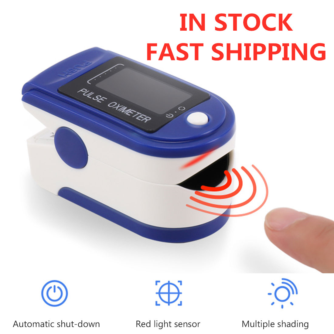 Finger Oximeter Portable Fingertip Pulse Oximeter Fingertip Pulsioximetro Heart Rate Saturometro Household Health Monitors