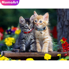 MomoArt 5d Diamond Embroidery Cat Painting Full Drill Square/round DIY Mosaic Cartoon Home Decoration