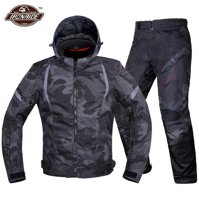Men Motorcycle Jacket Waterproof Motocross Suit Windproof Moto Protection Wearable Chaqueta Moto With Removeable Linner