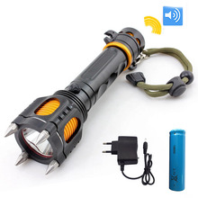 Defensive powerful T6 Led Flashlight high power Multi-Function flash To