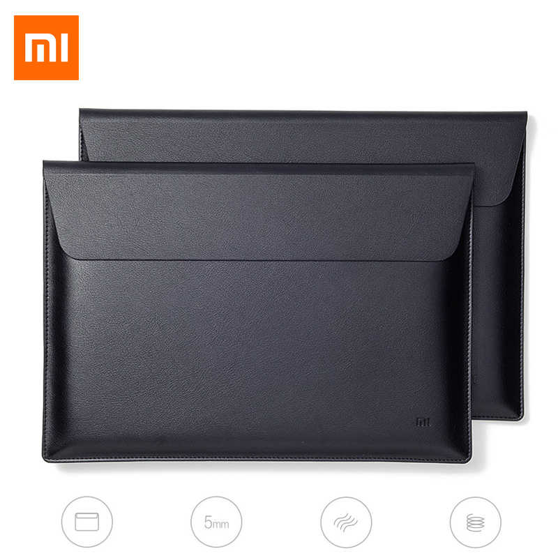Original Xiaomi Air Laptop Sleeve Bags PU Leature Case 12.5 inch 13.3 inch Liner Bag Notebook for Macbook Air Magnetic Buckle