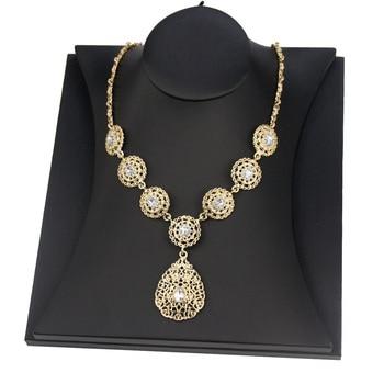 Sunspicems Gold Color Women Pendant Necklace Morocco Algeria Wedding Jewelry Indian Arab Party Bridal Bijoux Caftan Chain 2021 2