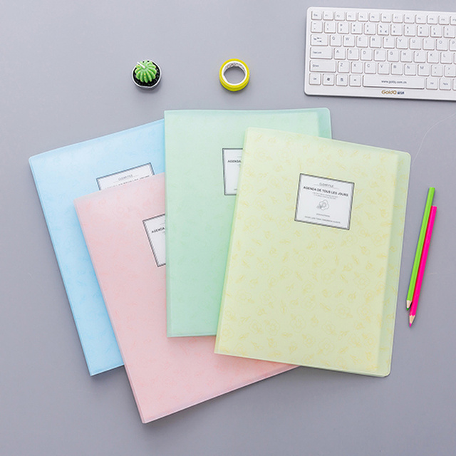 20/40 Page document storage folders Transparent display book a4 File Office Insert Storage information booklet School Supplies