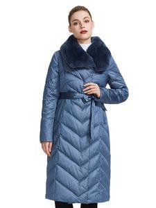 MIEGOFCE 2019 Плащ -пальто Новая коллекция женский куртка с кроличьим воротником необычные расцветки куртка зимняя женская имеет пояс который по...