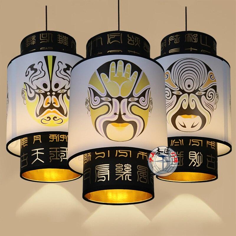 Лампа из овчины, китайская Подвесная лампа для прохода, креативная лампа для гостиной, столовой, лампа для горячего горшка, Ретро лампа для ч...