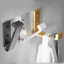 מתקפל קיר בלתי נראה וו עבור בגדים אלומיניום זהב מעיל דלת קיר אמבטיה קולב מפתח בית ארגונית דלת ווים