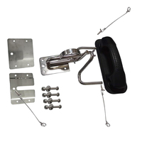 New Snap Davits for Inflatable Boat Swim Platform w/Quick Release Extended