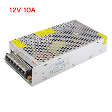 Lighting Transformer AC100V 265V to DC 12V 10A CCTV Camera Power Supply Adapter Converter LED Strip Switch Driver Charger