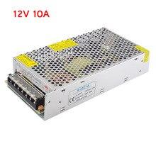 Transformador de iluminación AC100V 265V a DC 12V 10A CCTV alimentación de la Cámara adaptador de suministro convertidor tira LED interruptor cargador del controlador