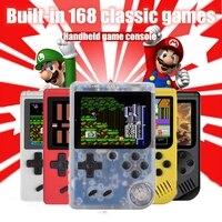 נייד משחקי שחקני משחק ניידות מיני וידאו נייד Bit קונסולת משחקי 8 מובנה 168 משחקים קלאסי LCD ילדים נוסטלגי רטרו קונסולת משחקים (1)