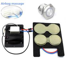 Car Seat back Electric Massage Lumbar Cushion back support universal 12 V car-styling 4 way airbag massage heated car cover