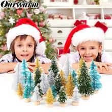 OurWarm 24pcs Mini Christmas Tree Small Pine Desktop Decoration for Home New Year Gifts Merry Party