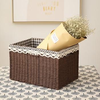 Element Write European Weave Accept Box Accept Basket Wardrobe Accept Box Arrangement Box Underwear Toys Desktop Accept Box фото