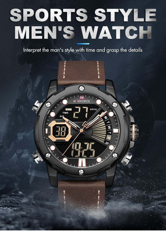 H20e37fb44dd54d909c555a71b54de939o NAVIFORCE Men Watch Top Luxury Brand Fashion Sports Wristwatch
