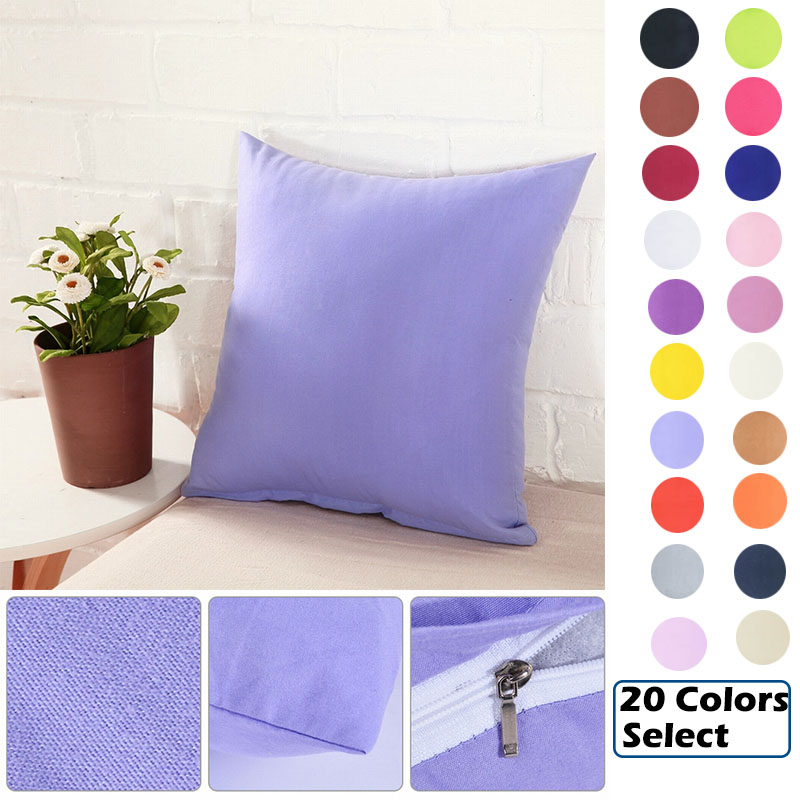 Urijk Solid Candy Color Pillowcase Cotton Polyester Decorative Pillow Cover For Home Throw Soft Pillow Case 40x40cm