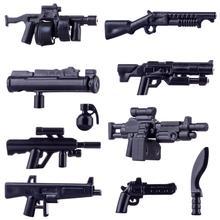 Горячие Дети DIY Подарочные игрушки маленькие частицы военный строительный блок оружие аксессуары деталь головоломка сборка игрушка для детей 3 цвета