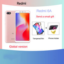 Xiaomi-teléfono inteligente Redmi 6A, 3GB, 32GB, google play, pantalla completa de 5,45 pulgadas, desbloqueo facial IA, SIM Dual, 256GB, procesador Helio A22 usado