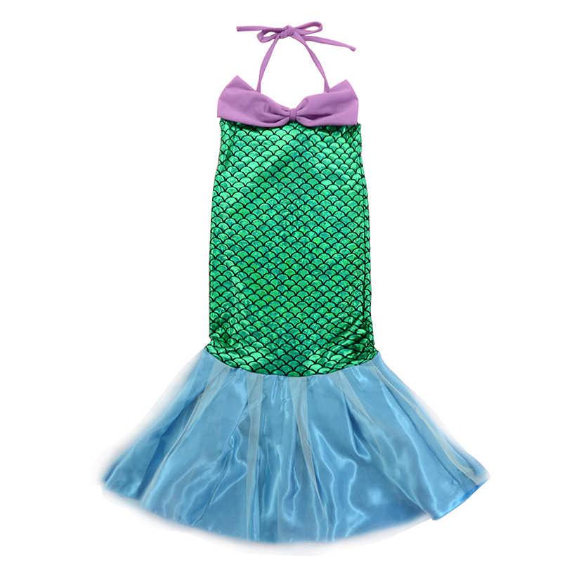 Fantezi bebek kız prenses elbise çocuk yasemin Rapunzel Aurora Belle Ariel Cosplay kostüm çocuk Elsa Anna Elena sofya parti elbise