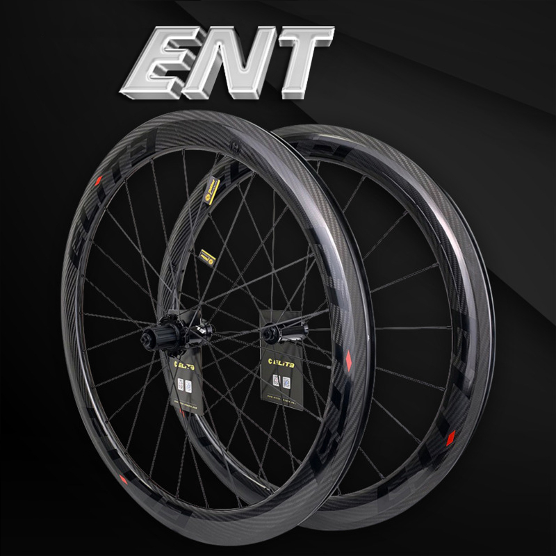 Elite 700c Road Bike Carbon Wheels 3k Twill UCI Quality Carbon Rim Tubeless Ready Sapim Secure Lock Nipple Road Cycling WheelsetBicycle Wheel   -