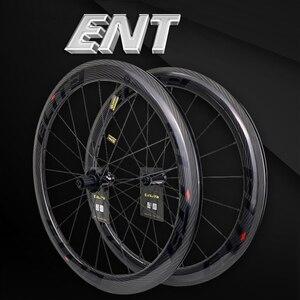 Image 1 - Ruote in carbonio Elite 700c per bici da strada 3k Twill UCI cerchio in carbonio di qualità Tubeless Ready Sapim blocco sicuro nipplo set di ruote per ciclismo su strada