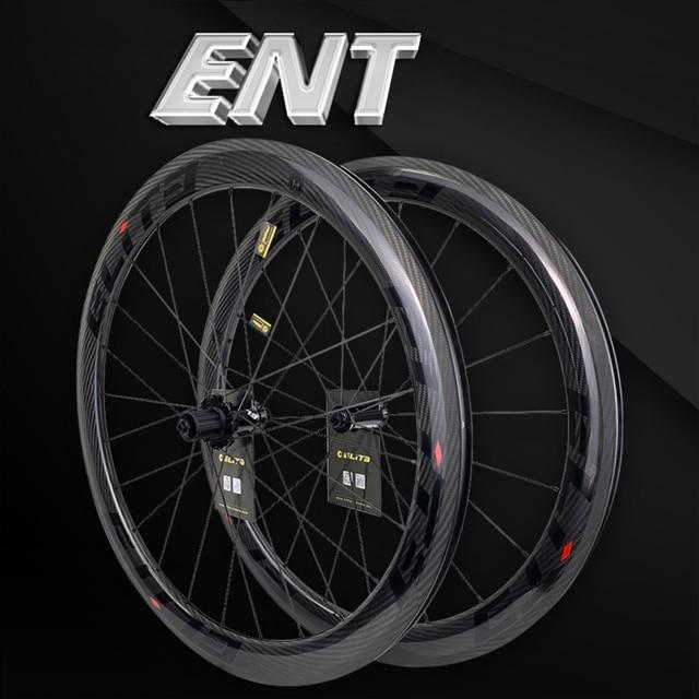 Ruote in carbonio Elite 700c per bici da strada 3k Twill UCI cerchio in carbonio di qualità Tubeless Ready Sapim blocco sicuro nipplo set di ruote per ciclismo su strada