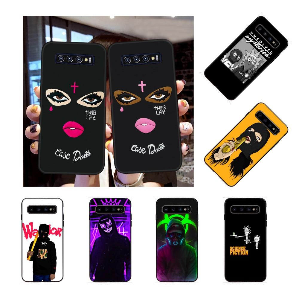 NBDRUICAI Masked Goon Thug Life Black Shell Phone Case Capa for Samsung S9 plus S5 S6 edge plus S7 edge S8 plus S10 E S10 plus