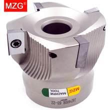 MZG Цена со скидкой BAP400R 50 63 80 мм четыре вставки Зажимная обработка режущая Концевая фреза хвостовик наплечный прямой угол фреза