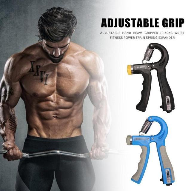 10-40kg Adjustable Heavy Gripper Hand Grip Strengthener Gym Power Fitness Exerciser Wrist Strength Training Spring Expander 3