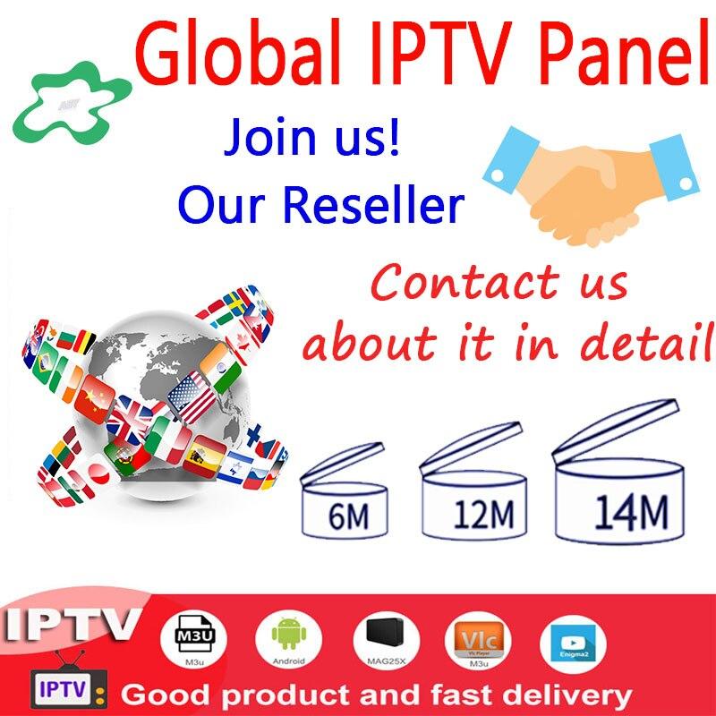Welt IPTV 7500 + Live control panel mit credits enthält für IPTV wiederverkäufer IPTV M3U IPTV Abonnement sport android box ssmart