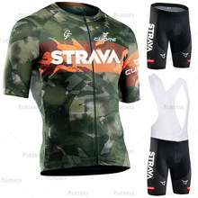 STRAVA Cycling Set Cycling Jersey Set Summer Anti-UV MTB Men's Bike Set Bicycle Suit Pro Team Racing Uniform Cycling Clothes