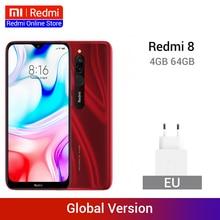 Global Version Xiaomi Redmi 8 4GB 64GB Snapdragon 439 Octa Core 12MP Dual Camera Mobile Phone 5000mAh Large Battery OTA