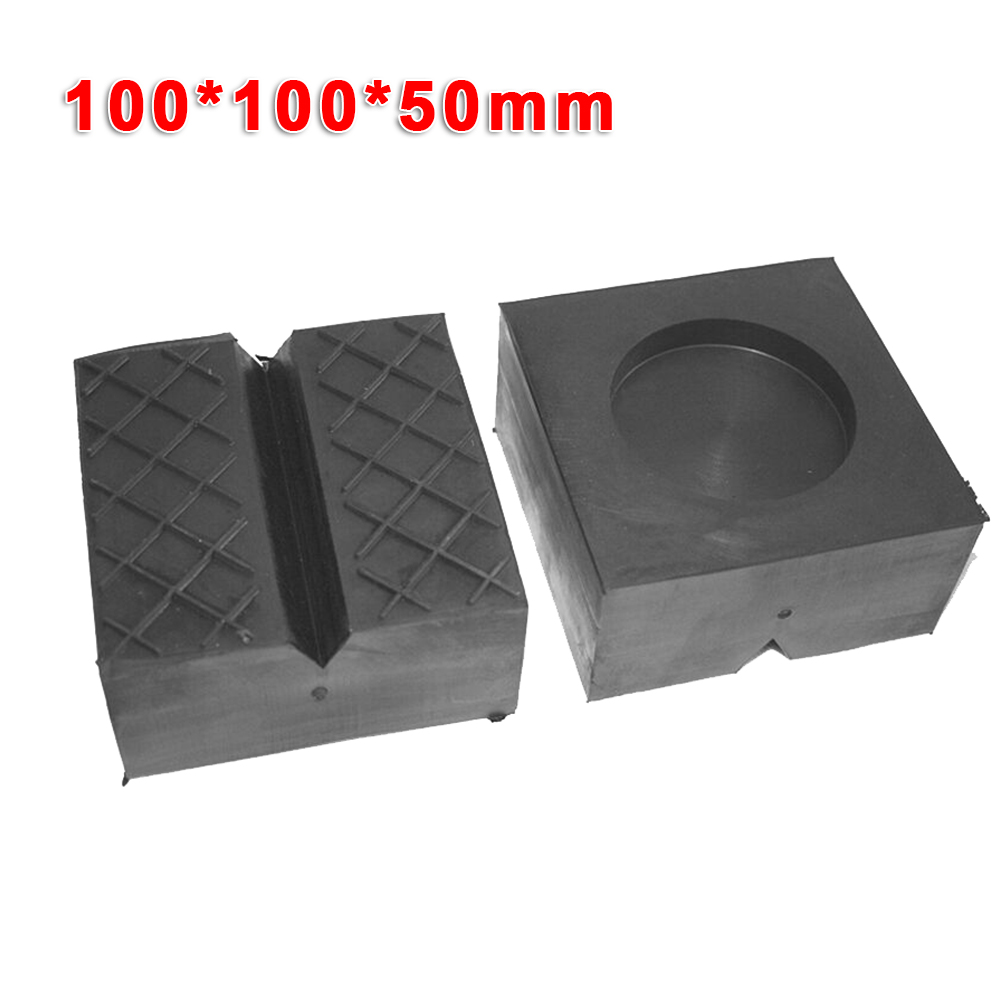 Car Auto Jack Pad Carriage Rubber Support Mat Lift Block V-Slotted Jack Pad 100X100X50mm Car Accessories