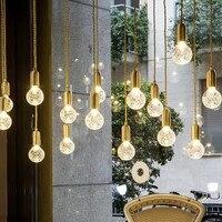 Mini pendant lights rose gold color E27 bulb barss light Dining room Bar Kitchen island Decor Hanging Lamp Fixtures