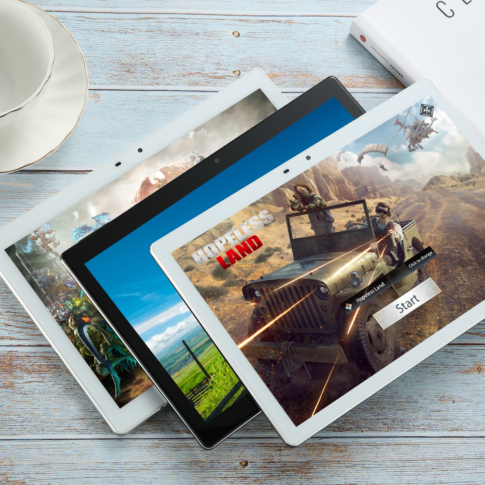 2020 Super Tempered 2.5D Screen 10 Inch Tablet PC Android 8.0 OS Deca Core 3GB RAM 64GB ROM Wifi GPS Tablet 1920*1200 Free Gifts