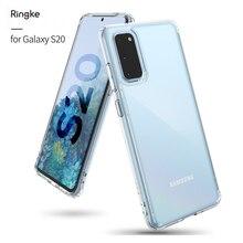 Ringke Fusion для Galaxy S20 силиконовый чехол гибкий ТПУ и прозрачный Жесткий ПК задняя крышка гибрид