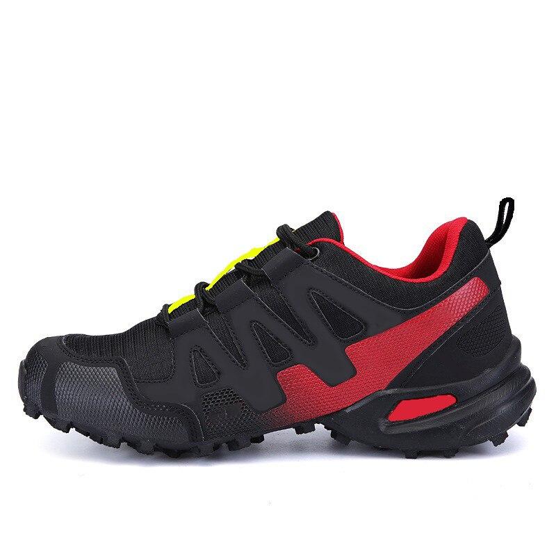 Erkekler nefes yürüyüş ayakkabıları açık dağcı tırmanma Sneakers kaymaz rahat kamp ayakkabıları erkekler için taktik ayakkabı erkekler