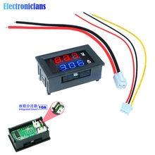Mini voltmètre numérique pour voiture avec double affichage LED, 0.56 pouces, ammètre DC 100V 10a, testeur de tension et de courant
