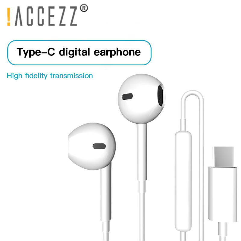 !ACCEZZ Type C Earphone USB-C Earbuds In-Ear Sport Gaming Headset With Mic For Xiaomi Mi 8 9 Huawei Pro P20 Mate 10 Samsung S10