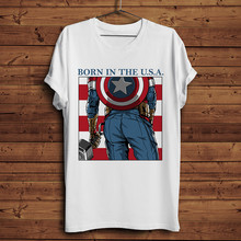 Captain america Ass grappig Japan anime t-shirt mannen nieuwe witte casual homme tops tees TShirt hipster streetwear t-shirt(China)