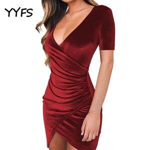 Новое Женское летнее платье с разрезом, сексуальное, модное, вечернее, Клубное, с v-образным вырезом, атласное, женское облегающее мини-плать...
